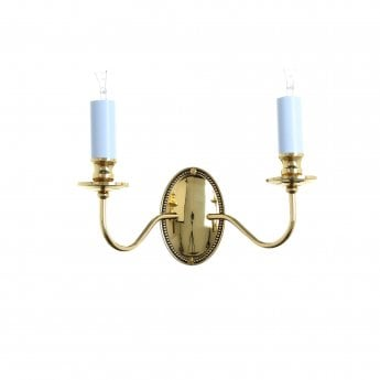Impex Lighting Georgian 2 Light Polished Brass Wall Light