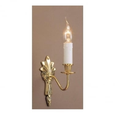 Impex Lighting Goodwood 1 Light Polished Brass Wall Light