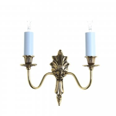 Impex Lighting Goodwood 2 Light Polished Brass Wall Light
