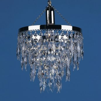 Impex Lighting Halle 1 Light Nickel Strass Lead Crystal Chandelier With Hertiage Prisms