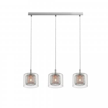 Impex Lighting Laure Chrome 3Lt Indoor Pendant Light (PGH606101/03/CU/CH)