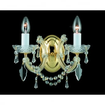 Impex Lighting Marie Theresa Strass Crystal 2 Lt Wall Light