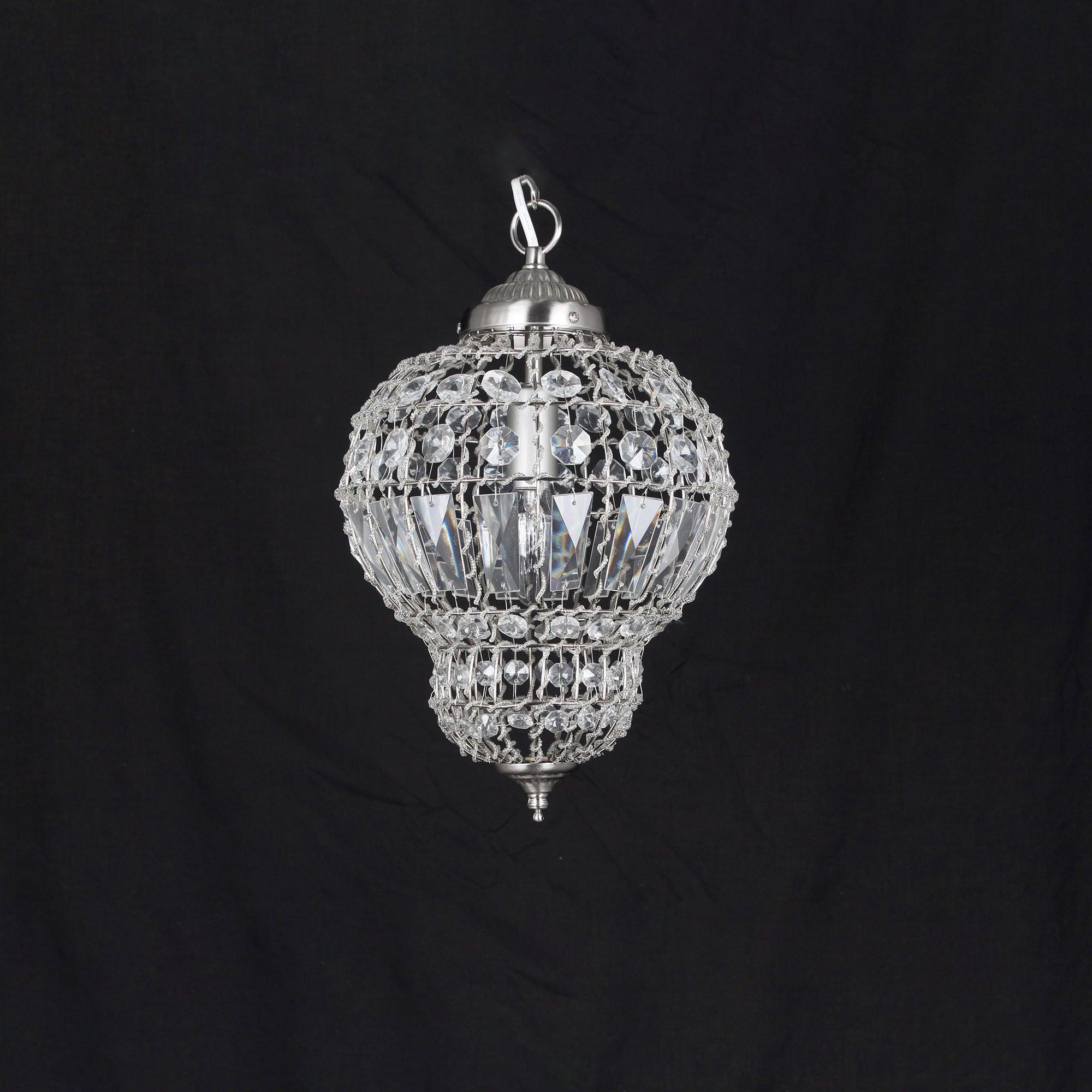 Crystal pendant lighting 3 ring led modern crystal chandelier crystal pendant lighting impex lighting morocco satin nickel 1lt indoor pendant light co812161 arubaitofo Gallery