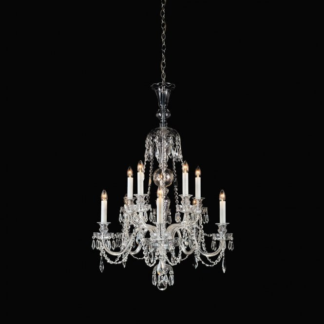 Impex lighting most chrome 10lt indoor chandelier cb125251 10 leader lights - Most popular chandeliers ...