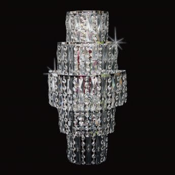 Impex Lighting New York Chrome with Clear Crystal 3 Lt Wall Light