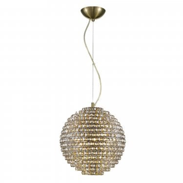 Impex Lighting Nord Antique Brass 5Lt Indoor Pendant Light (CFH608241/L/AB)