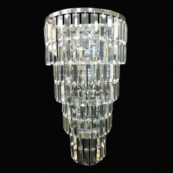 Impex Lighting Padua Chrome with Lead Crystal 5 Lt Wall Light