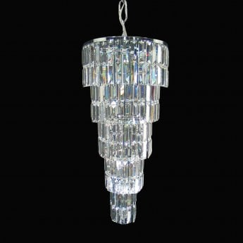 Impex Lighting Padua Chrome with Lead Crystal 7 Lt Pendant Light