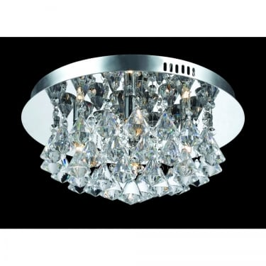 Impex Lighting Parma 4 Lt Round Flush Ceiling Light