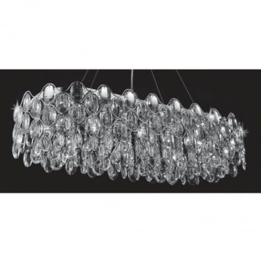 Impex Lighting Raina Chrome 10Lt Indoor Pendant Light (CF412181/10/OBL/CH)