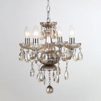 Impex Lighting Rodeo Champagne Crystal 4 Lt Pendant Light