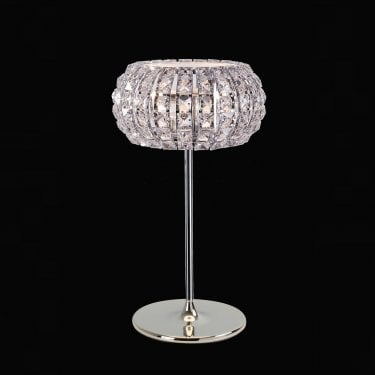 Impex Lighting Rome Chrome with Clear Crystal 3 Lt Table Lamp
