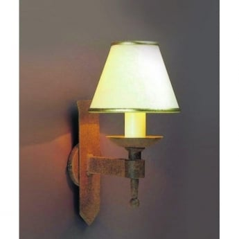 Impex Lighting Saxon Aged 1Lt Indoor Wall Light (SMRR01071/A)