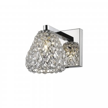 Impex Lighting Simone Chrome 1Lt Indoor Wall Light (CFH501131/01/WB/CH)