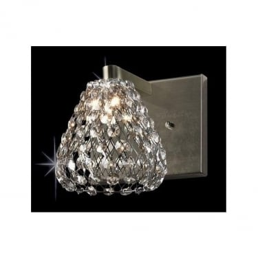 Impex Lighting Simone Crystal Antique Brass 1Lt Wall Light