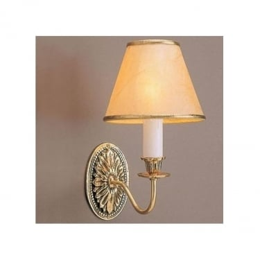 Impex Lighting Solar 1 Light Polished Brass Wall Light