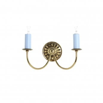Impex Lighting Solar 2 Light Polished Brass Wall Light