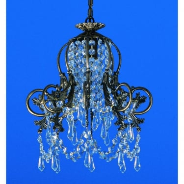 Impex Lighting Starlite Bell Shaped 1 Light Strass Pendant Light