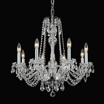 Impex Lighting Stella 8 Lt Beaded Clear Glass Chandelier