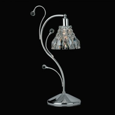 Impex Lighting Strasbourg Chrome 1Lt Indoor Table Lamp (CE00031/TL/CH)