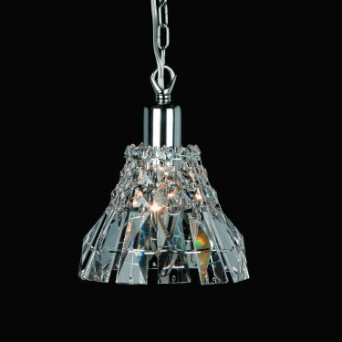 Impex Lighting Strasbourg Chrome with Lead Crystal Pendant Light