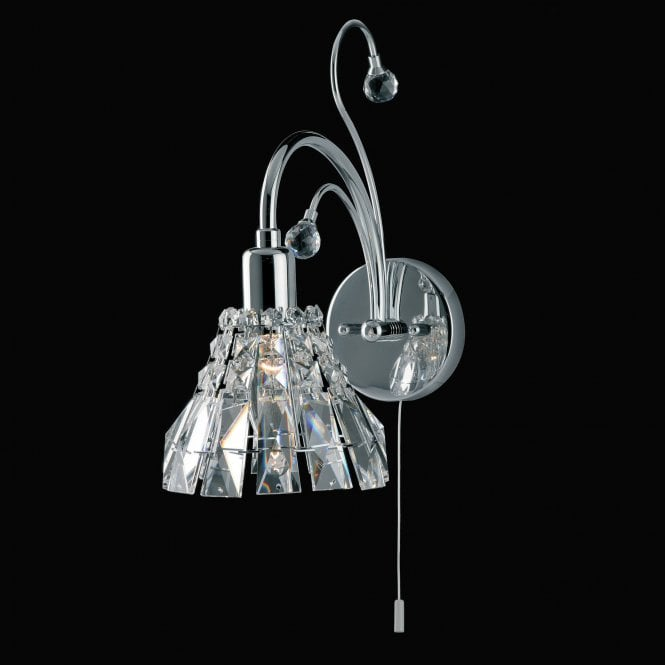 Impex Lighting Strasbourg Chrome with Lead Crystal Wall Light