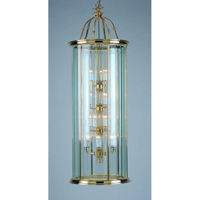 Impex Lighting Surrey Polished Brass 18 Lt Lantern