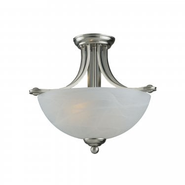 Impex Lighting Texas 2 Lt White Alabaster Glass Pendant Light