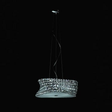 Impex Lighting Tia Chrome 6Lt Indoor Pendant Light (CFH211131/06/CLR/CH)