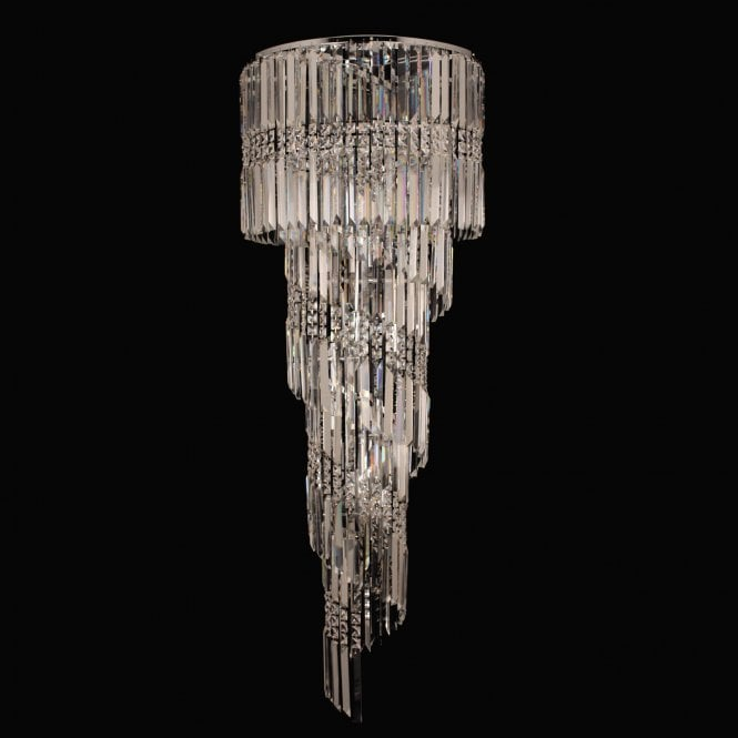 Impex Lighting Toronto Chrome with Clear Crystal 14 Lt Flush Ceiling Light