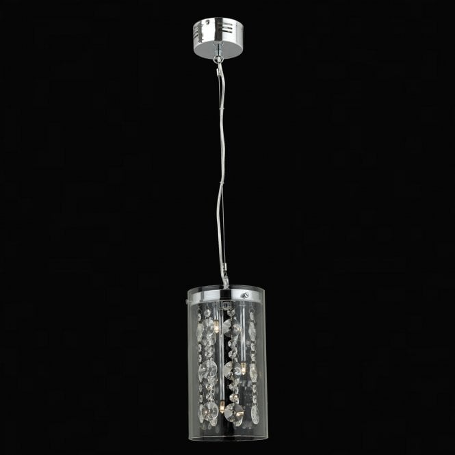 Impex Lighting Verona Chrome with Clear Crystal 3 Lt Pendant Light