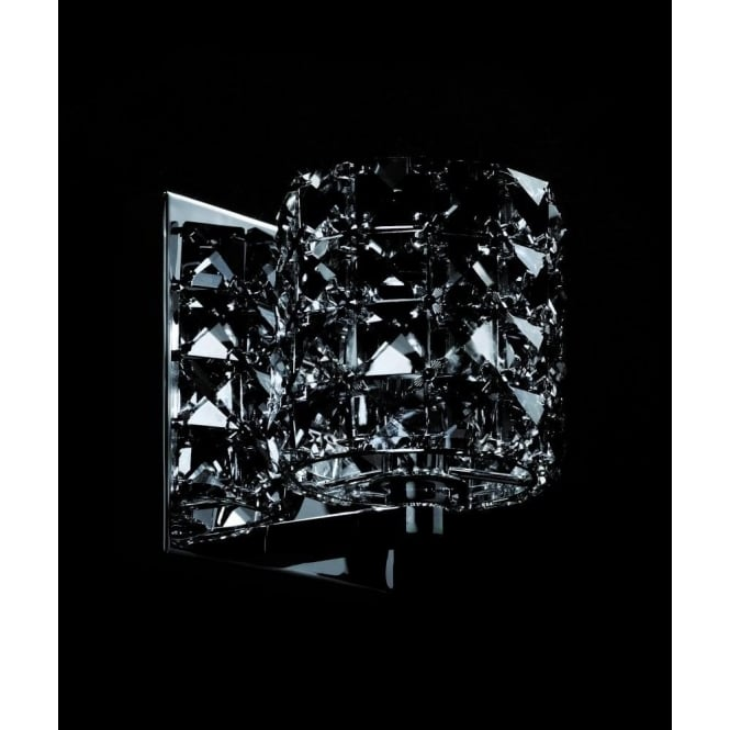 Impex Lighting Veta Chrome 1Lt Indoor Wall Light with Smoked Crystal Details (CFH211151/WB/SMK/CH)