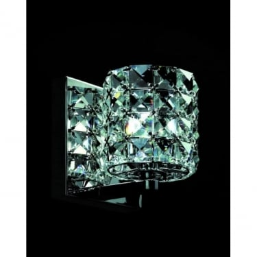Impex Lighting Veta Chrome Indoor Wall Light with Clear Crystal Details (CFH211151/WB/CLR/CH)