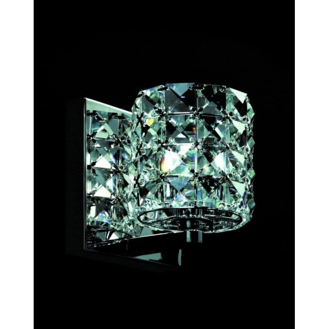 Impex Lighting Veta Chrome with Clear Crystal Wall Light