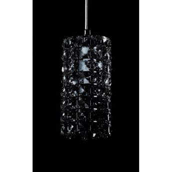 Impex Lighting Veta Chrome with Smoked Crystal Pendant Light