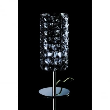 Impex Lighting Veta Chrome with Smoked Crystal Table Lamp