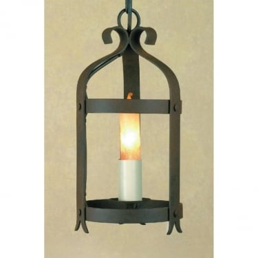 Impex Lighting Villa 1 Light Aged Iron Lantern