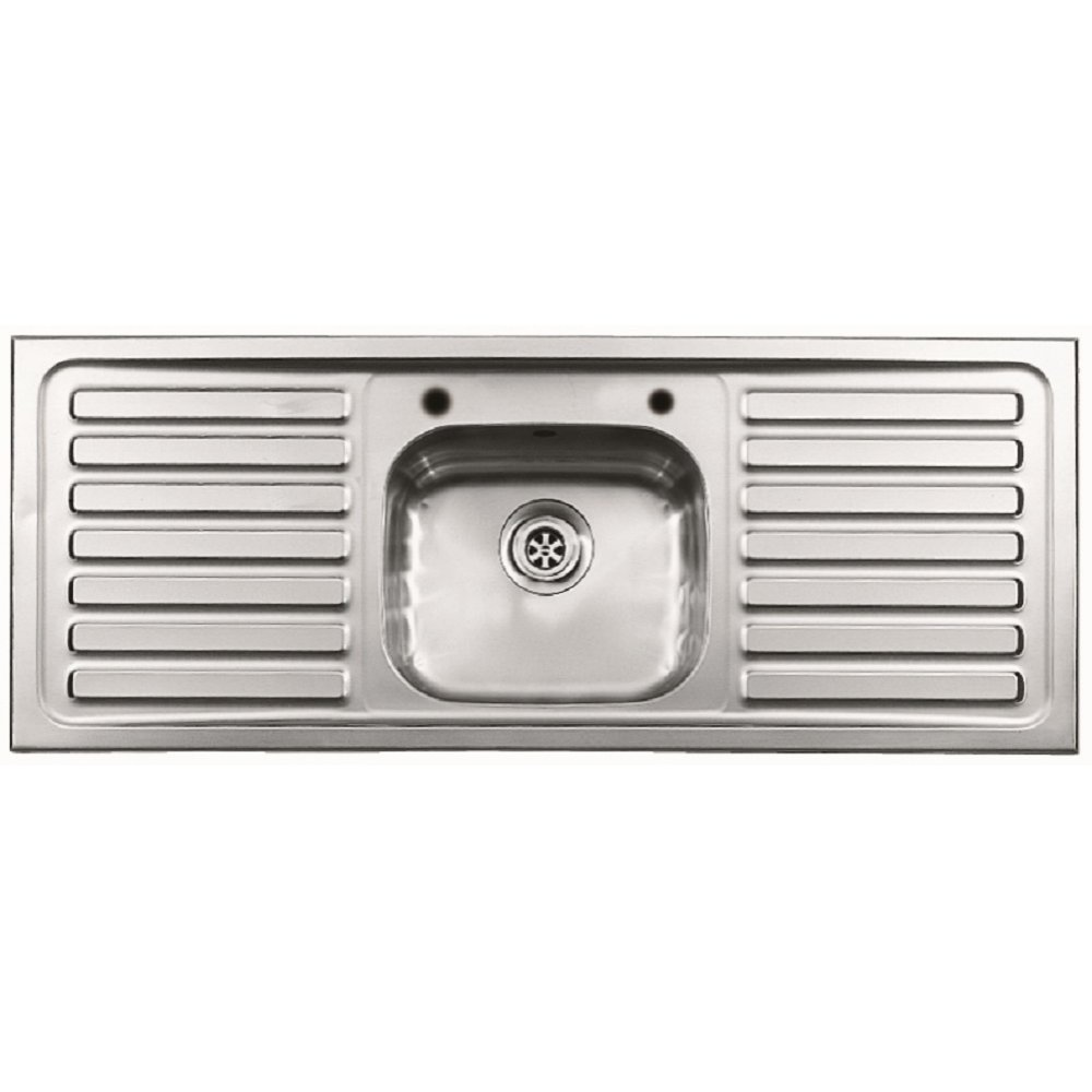 Kitchen sink stainless steel double drainer single bowl in vic ebay - Sinks Pyramis Pyramis Inset Single Bowl Double Drainer Sink