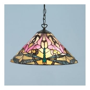 Interiors 1900 Ashton Tiffany Glass Pendant Light