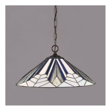Interiors 1900 Astoria Tiffany Glass Large Pendant Light