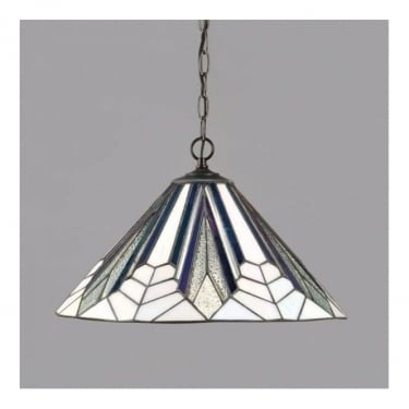 Interiors 1900 Astoria Tiffany Glass Pendant Light