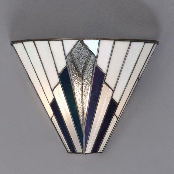 Interiors 1900 Astoria Tiffany Style Glass 1lt Indoor Wall