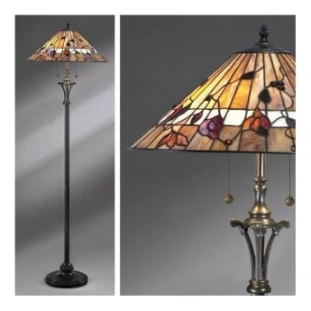 Interiors 1900 Bernwood Tiffany Glass Floor Lamp
