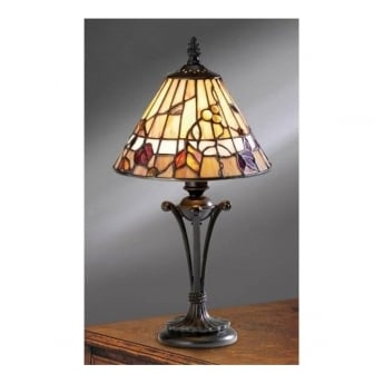 Interiors 1900 Bernwood Tiffany Glass Small Table Lamp