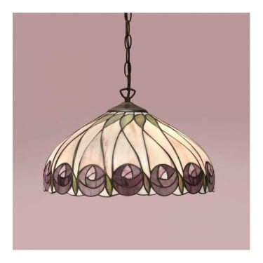 Interiors 1900 Mackintosh Hutchinson Tiffany Glass Pendant Light