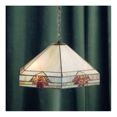 Interiors 1900 Nevada Tiffany Glass Pendant Light