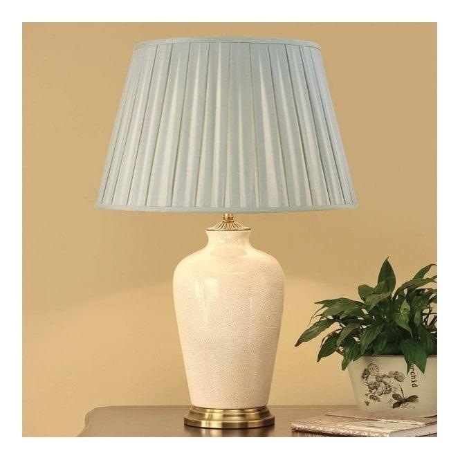 Large Blue Lamp Shade: Rochamp Ryhall Large Ivory Table Lamp
