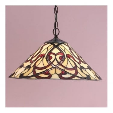 Interiors 1900 Ruban Tiffany Glass Medium Pendant Light