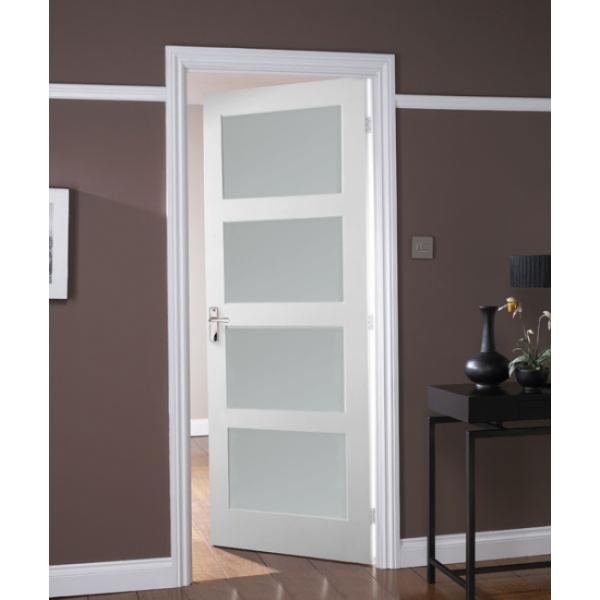 Jeld wen avesta internal white primed 4 panel shaker for 15 panel glazed internal door