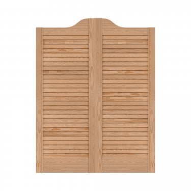 WoodDoor+ Internal Clear Pine Cafe Style Ranch Louvre Door Pair
